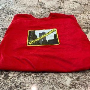 Supreme red men's medium t shirt